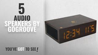 Top 5 Gogroove Audio Speakers [2018]: Bluetooth Digital Alarm Clock Speaker by GOgroove - TYM Wood