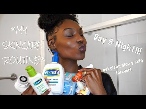 (**HIGHLY REQUESTED!!**) MY SKINCARE ROUTINE!!! (day + night) thumbnail