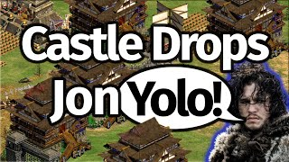 AoE2 Castle Drops! Jon YOLO!