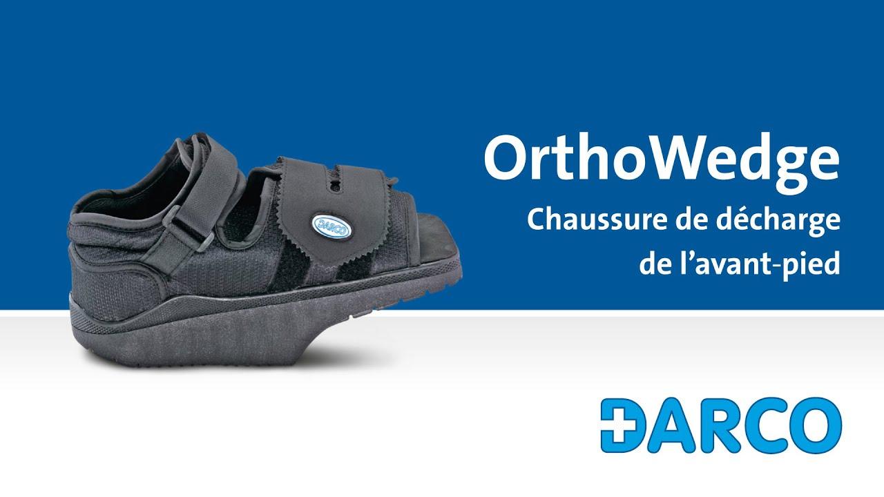 Orthowedge chaussure de d charge pour le pied ant rieur apr s une op ration youtube - Pied en bois pour chaussure ...