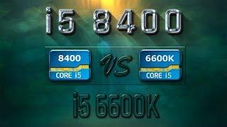 i5 8400 vs i5 6600K Benchmarks  Gaming Tests Review & Comparison