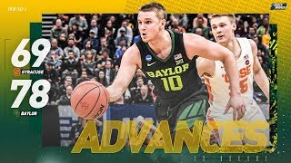 Syracuse vs. Baylor: First Round NCAA Tournament extended highlights