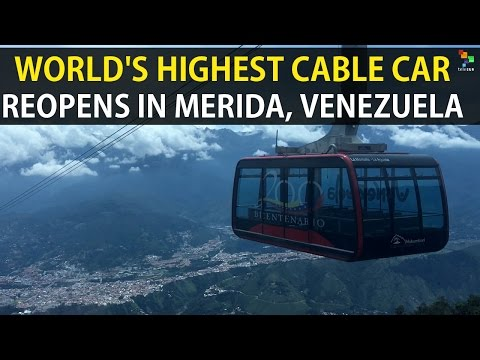 The World's Highest Cable Car Reopens in Merida