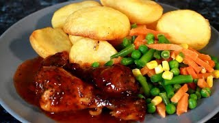 How to make BBQ Chicken - Easy Basic BBQ OVEN BAKED  Chicken | Sunday Dinner