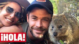 Los 'selfies' de Chris Hemsworth y Elsa Pataky con su nuevo amigo que te van a enamorar