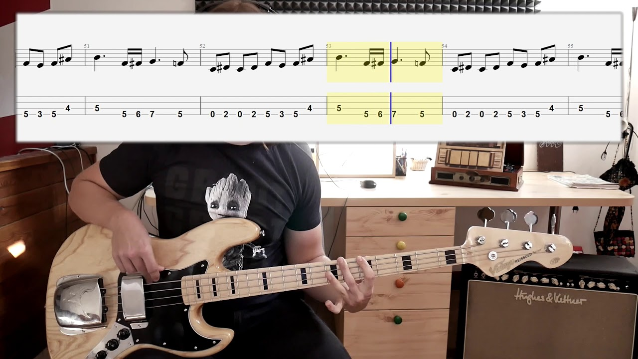 Redbone - Come And Get Your Love (bass cover with tabs in