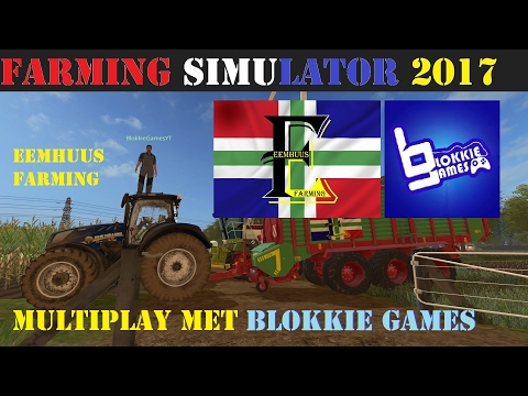 """MET BLOKKIE GAMES"" Farming Simulator 2017 Multiplayer"
