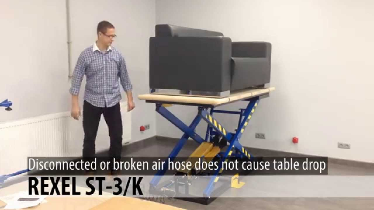 Liftable Worktable For Upholstery STK YouTube - Liftable table