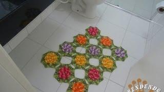 Tapete da Pia em Croche - Jogo de Banheiro Barbante - Aprendendo Crochê
