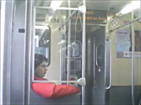 CTA Green Line train to Harlem/Lake terminal 3 (08-31-15)