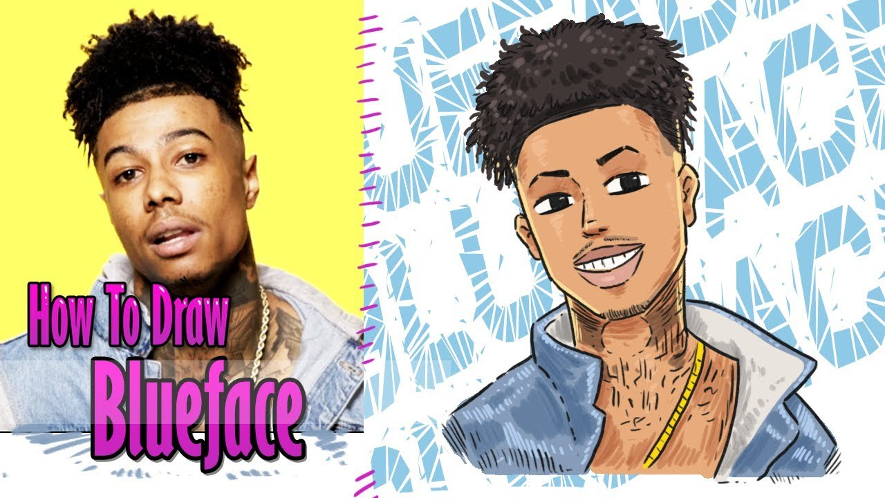 how to draw blueface | rapper