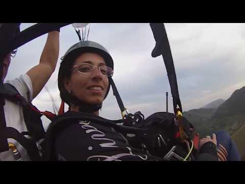 Duplos NorteAr - Kennia em voo na Cachoeira Alta.