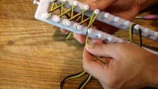 Repeat youtube video How to Loom Knit: Twisted Knit Stitch