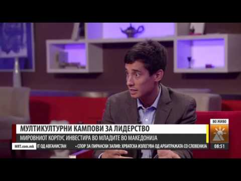 Peace Corps Macedonia Volunteer Interview on MTV 1 July 2015
