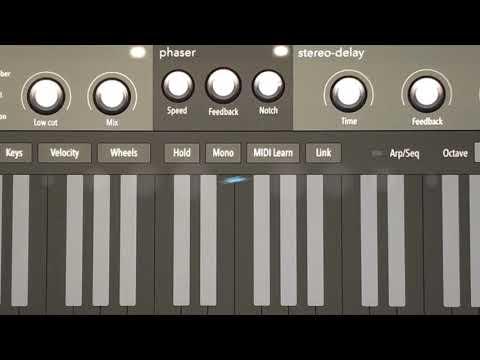 Audiokit Digital D1 iPad Synth - Quick KEYS example