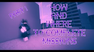 ROBLOX PARKOUR - HOW AND WHERE TO COMPLETE MISSIONS PT 1