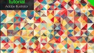 illustrator  How to make original multicolor triangle Background. Free illustrator script
