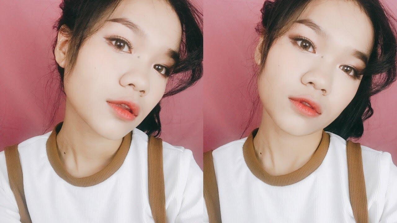 Korean Inspired Orange Brown Makeup I Makeup Tutorial / Kannavy