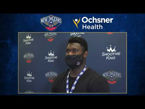 Zion Williamson Postgame After 23 Vs. Memphis Grizzlies (8/3/20)