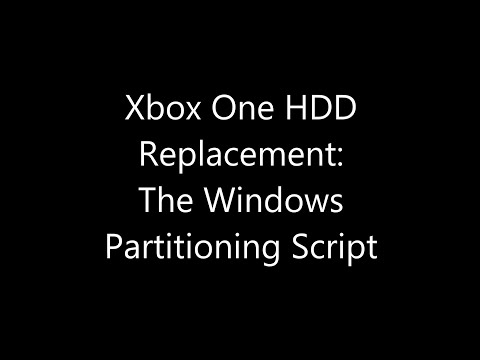 Xbox One HDD Replacement: The Windows Partitioning Script