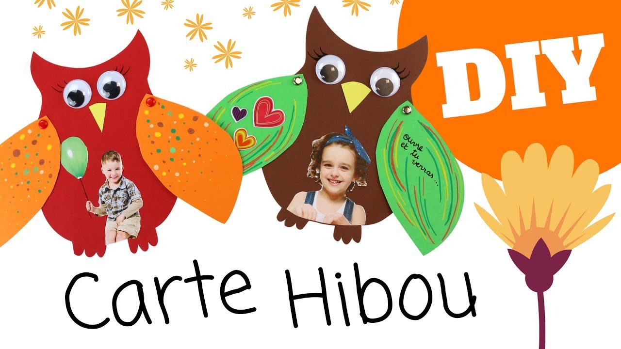 Carte Hibou Fête Des Mères 10 Doigts