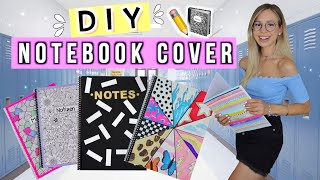BACK TO SCHOOL DIY NOTEBOOK COVER ✏️ DIY School Supplies 2020 Deutsch - Cali Kessy