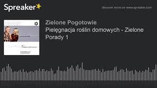 Pielęgnacja roślin domowych - Zielone Porady 1 (made with Spreaker)
