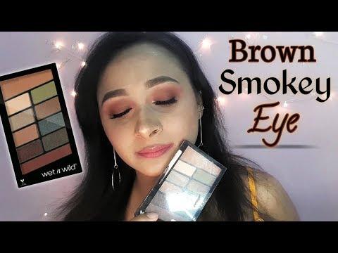 Step by Step Brown Smokey Eye for Beginners | Eye Makeup Tutorial | Wet n Wild
