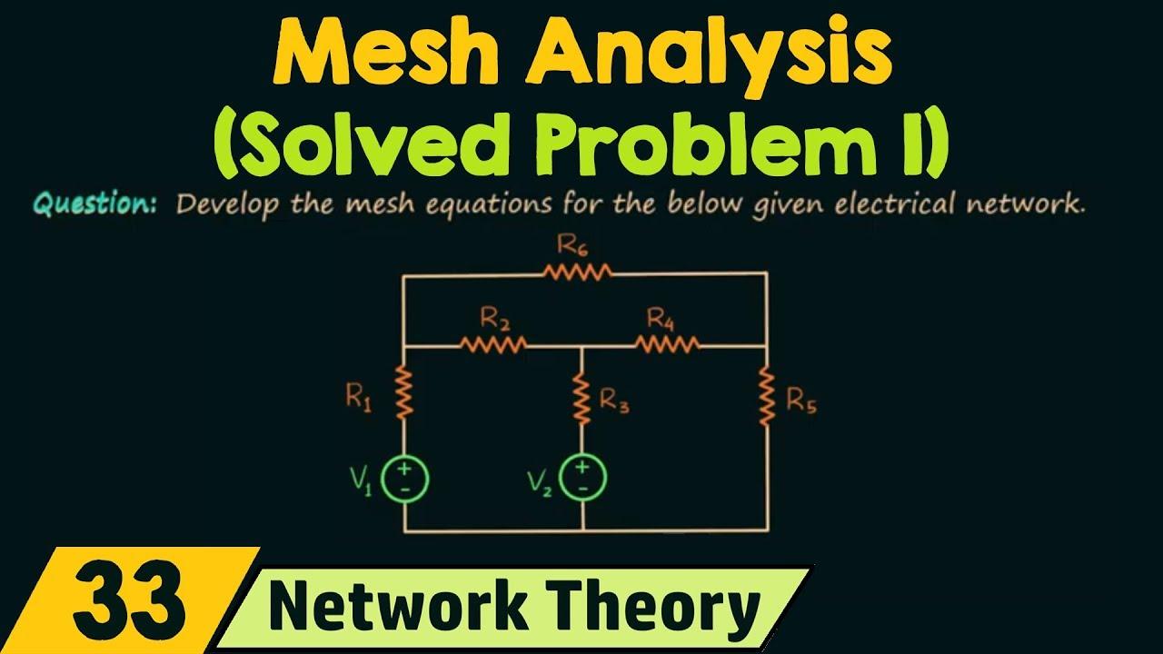 Mesh Analysis (Solved Problem 1)