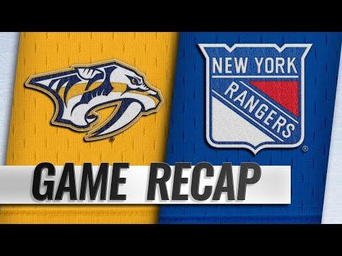 Rinne, Sissons help Predators hold off Rangers, 3-2
