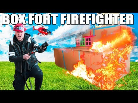 BOX FORT FIRE FIGHTERS ROLEPLAY!!  Box Fort Fire Station, REAL FIRES, Fire Patrol & MORE!