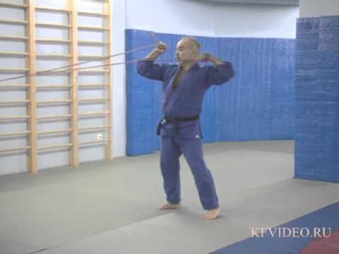 Уроки дзюдо. Тренировка с резиновым эспандером. kfvideo.ru ...