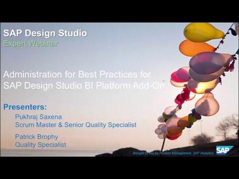 Adminsitration Best Practices for SAP Design Studio BI Platform Add On