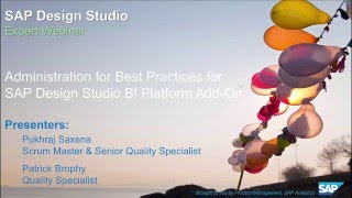 Adminsitration Best Practices for SAP Design Studio BI Platform Add On