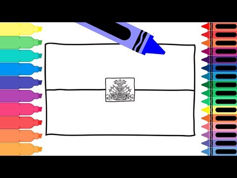 How To Draw A Haiti Flag - Coloring Pages For Kids - Drawing A Haitian Flag | Tanimated Toys