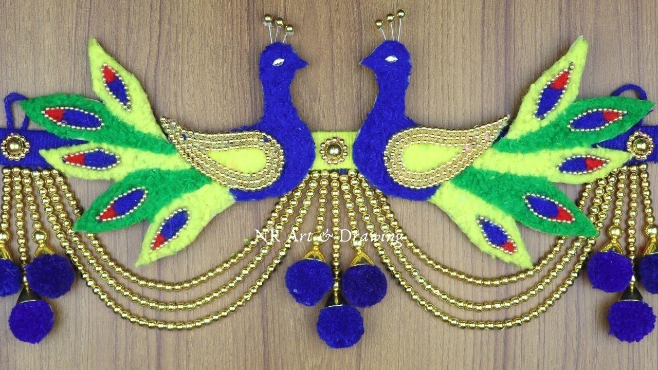 Amazing Peacock Design Wall Hanging Making - Woolen art and craft - Best reuse ideas - Woolen Crafts
