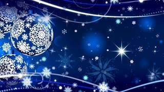 Зимний синий футаж со звездами