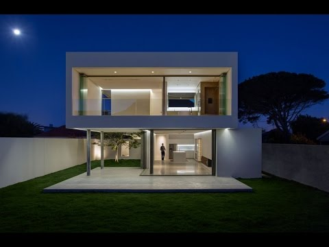 modern box house modern house design with floating box facade youtube. Black Bedroom Furniture Sets. Home Design Ideas