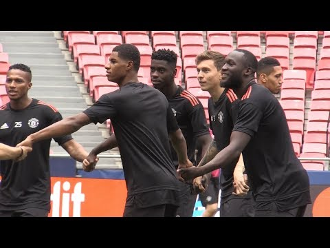 Manchester United Train Ahead Of Champions League Clash With Benfica
