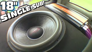impressive 18 ported box w interchangeable ports single fi audio sp4 4 inch voice coil subwoofer