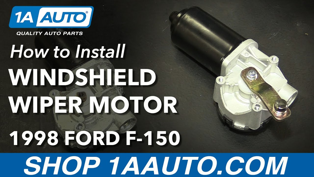 How to Install Replace Windshield Wiper Motor 19972003 Ford F150  YouTube