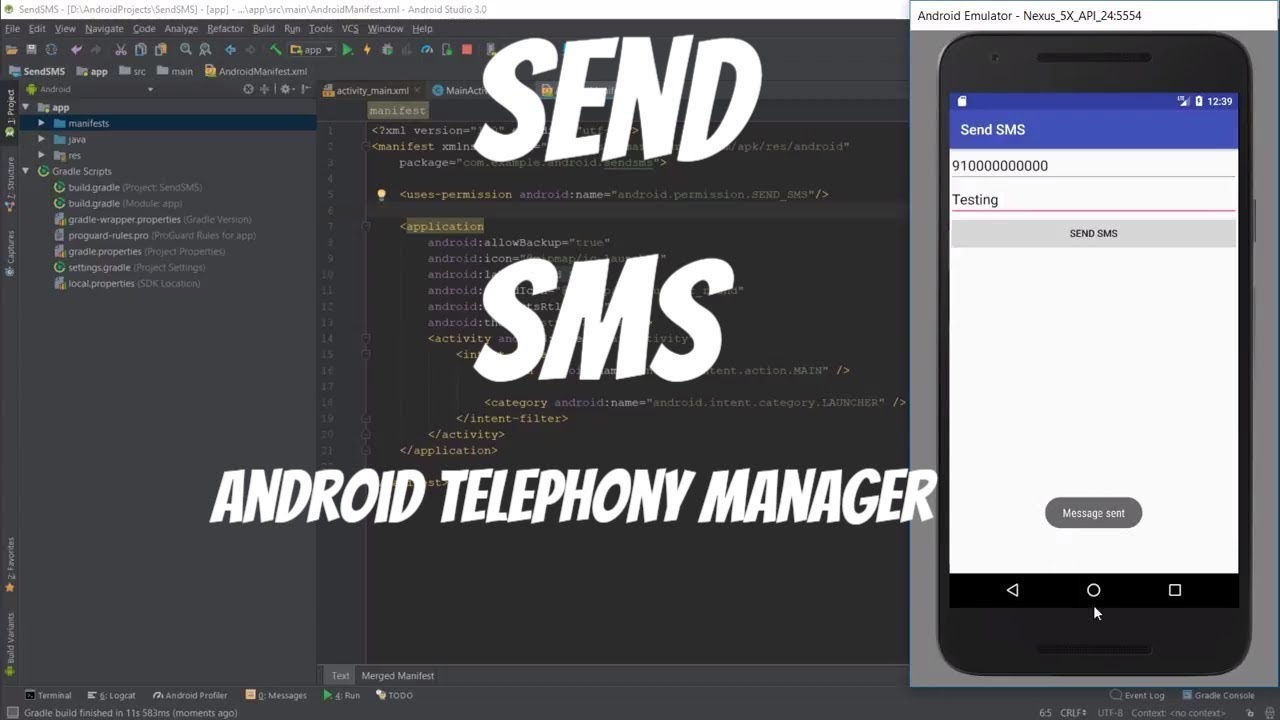 Android telephony manager tutorial 43 read sms youtube.