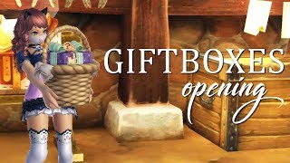 Alicia Online opening 47 Christmas/New Year giftboxes!