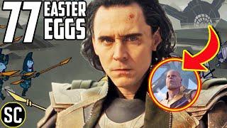 LOKI 1x01: Every Easter Egg + Secret Thanos Origin Revealed | Marvel References & Episode BREAKDOWN