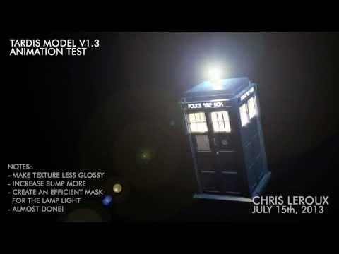 Doctor Who - TARDIS Model V1.3 Animation Test