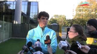 Brazylia-Japonia: Kaká trenował we Wrocławiu