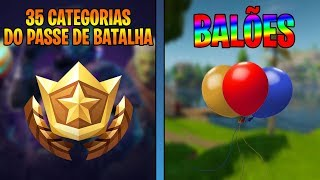 35 BATTLE PASS CATEGORIES and CONFIRMED BALLOONS-Fortnite Battle Royale