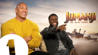"The Rock and Kevin Hart's SINGING Jumanji 2 Christmas interview: 🎵 ""This Little Light Of Mine"" 🎵"
