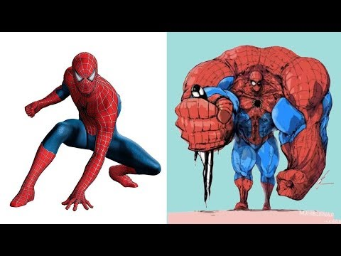 Marvel and DC Superheroes/Villains Muscular Version