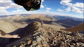 Experience big mountain lines with me as I nearly fall off a cliff ...